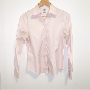 Brooks Brothers Non-Iron Pink Button Down Shirt
